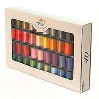 Brother 40 Colour Satin Thread Pack