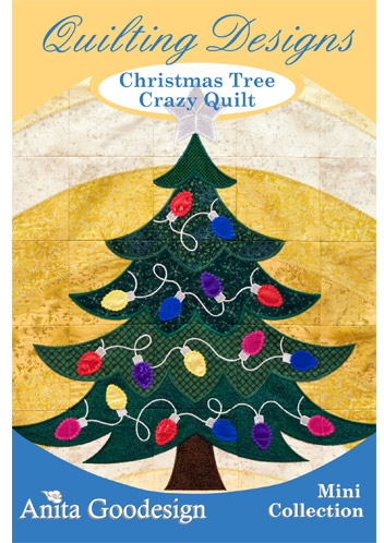 Christmas Tree Crazy Quilt