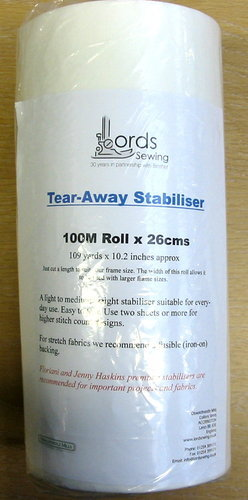 Tear-away 100M Roll x 26cms, 109yds x 10.2in approx