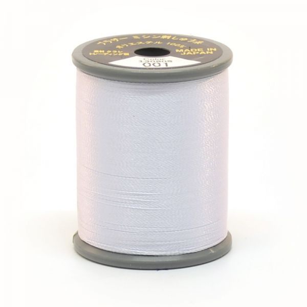 Brother Satin Embroidery Thread White 001