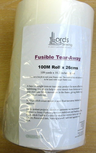 Fusible Tear-away -  100M Roll x 26cms, 109yds x 10.2in approx