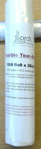 Fusible Tear-away -  10M Roll x 26cms, 10.93yds x 10.2in approx