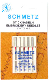 Schmetz Embroidery Needles Mixed