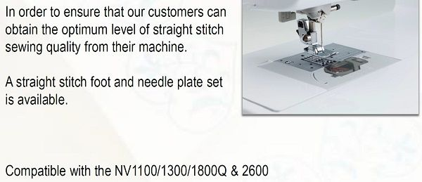 Straight Stitch Foot and plate